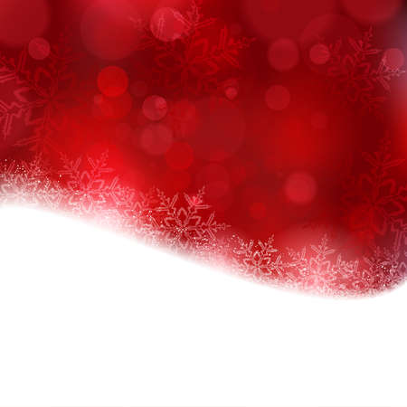 blurry lights: Shiny light effects with blurry lights and glittering snowflakes in shades of red and a wavy contour.