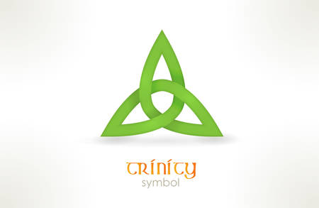 trinity: Interwoven line forming a three cornered shape called trinity knot.
