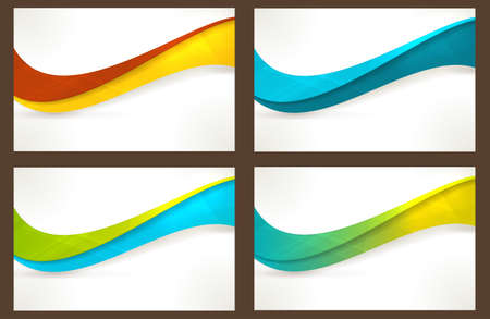 Wavy pattern in various bright colors with copy space. Can be used for business cards, website headers, brochures or any marketing material that needs a fresh, modern, textured wave pattern.