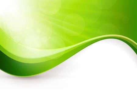 light burst: Gr�ner Hintergrund mit Lichtexplosion, Lens Flare-Effekte und einem Wellenmuster Gro�e Kulisse f�r jeden Fr�hling Thema Kopieren von Speicherplatz