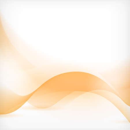 Soft and dreamy abstract backgound with wave pattern in shades of orange
