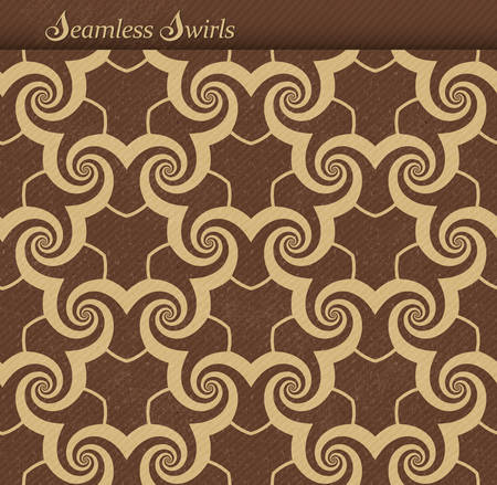 distressed paper: Abstract seamless background pattern with a grunge texture and faint diagonal stripes. Repeating swirls, spirals forming a playful wave backdrop. JPG contains clipping path for pattern. Illustration