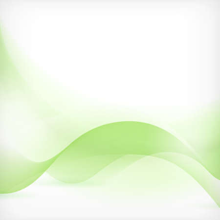 Soft and dreamy abstract background with wave pattern in shades of green. Vector