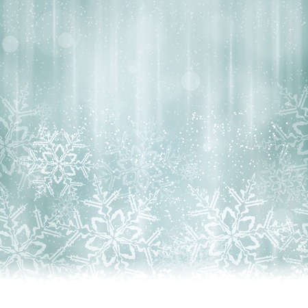 Abstract Christmas, winter background in shades of silver and desaturated blues tones. Vector