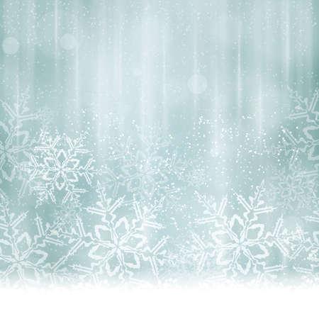 Résumé de Noël, fond en hiver dans les tons de bleus et argent désaturées tons.