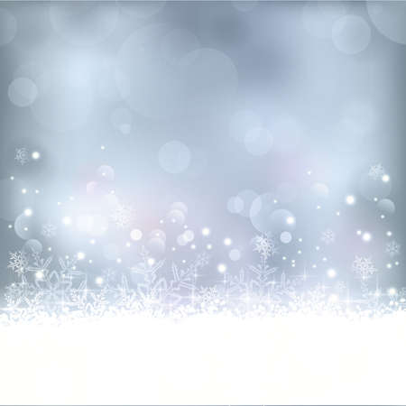 Wintry blue abstract background with out of focus light dots, stars,snowflakes and copy space. Great for the festive season of Christmas to come or any other winter occasion. Vector