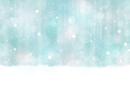 navide�os: Fondo abstracto en colores de invierno con puntos de luz borrosas. Nevadas y efectos de luz le dan una sensaci�n suave de ensue�o y un brillo perfecto para la temporada de fiestas de Navidad. Sin fisuras horizontalmente