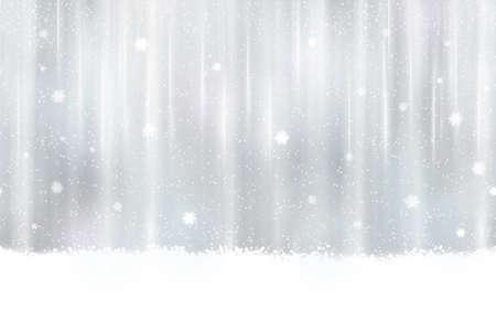 effets lumiere: Conception abstraite de fond argent. Neige et effets de lumi�re donnent un sentiment doux r�veur et un �clat parfait pour la saison des f�tes de No�l. Seamless horizontalement