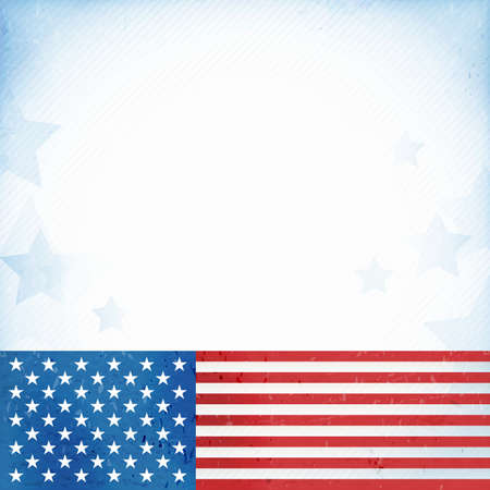 blue stars: US American flag themed background Illustration