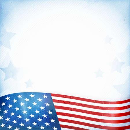 US American flag themed background Illustration