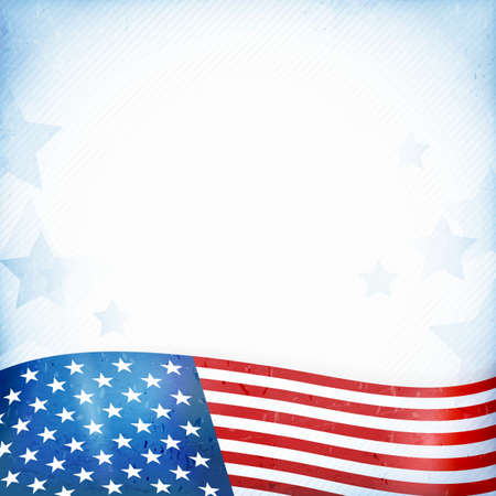 patriotic border: US American flag themed background Illustration