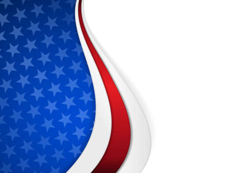 nationalism: Patriotic background with wavy pattern Illustration