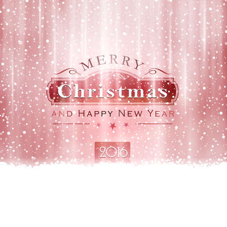 light effects: Abstract Christmas background in shades of silver red with snowfall and light effects to give it a festive feeling.