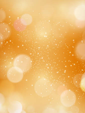 Golden blurred background with defocused light dots. Bokeh background. Great for festive or autumn, fall themes Illustration