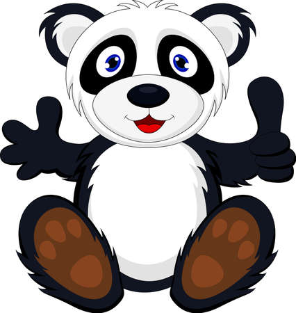 illustration of baby panda with thumb up Stock Vector - 17564567