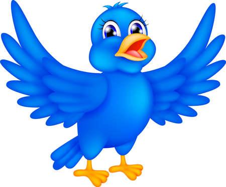 illustration of happy blue bird Stock Vector - 17564635