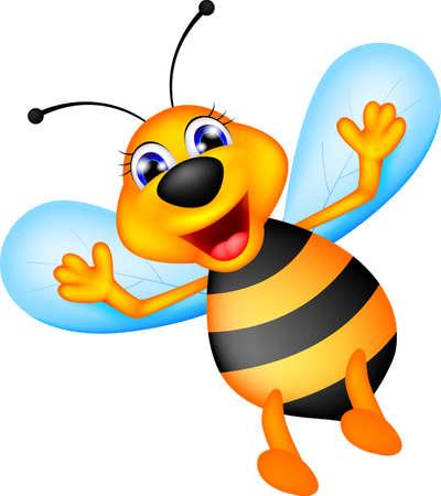 illustration of cute bee caroon