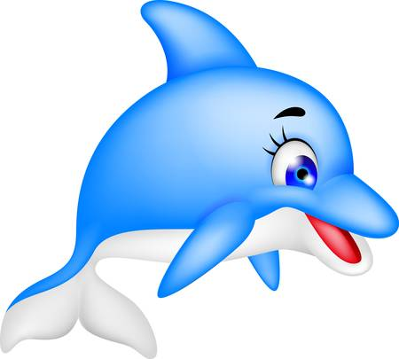 illustration of funny dolphin cartoon Stock Vector - 17564596