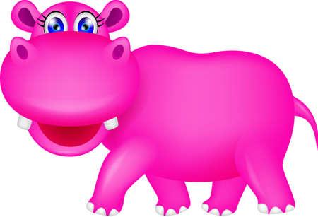 hipopotamo caricatura: lindo hipopótamo de dibujos animados