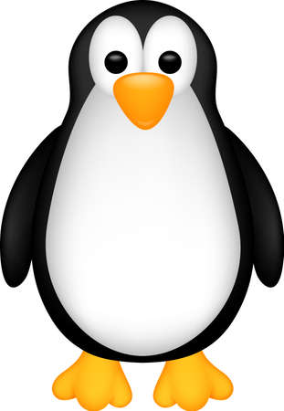 funny penguin cartoon Vector
