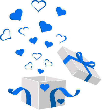 illustration of gift boxes with bows and ribbons Illustration