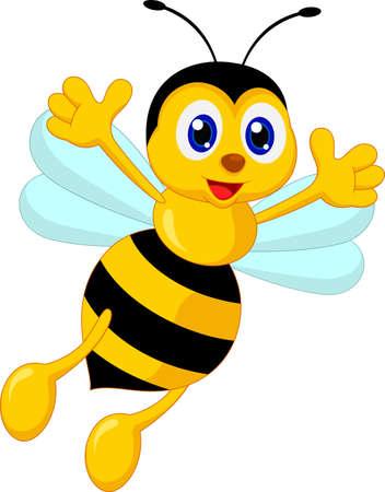 mosca caricatura: ilustración vectorial de la abeja de la historieta