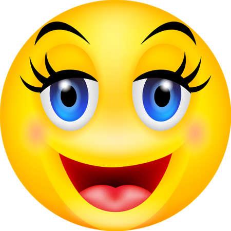 illustration of funny smiling emotion Illustration