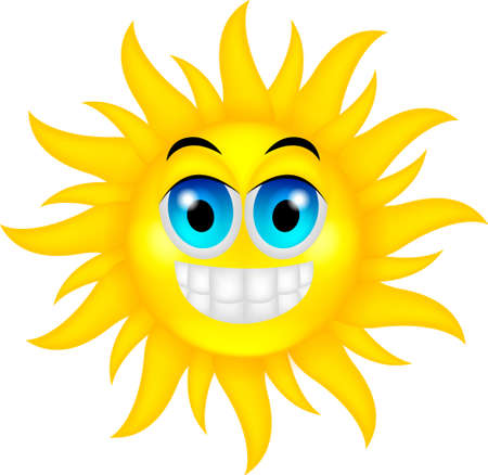 vector illustration of happy summer sun Vector