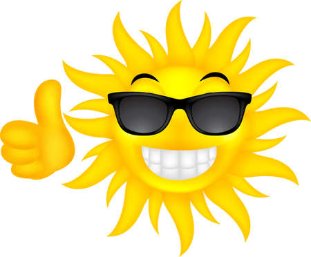 dazzled: happy summer sun with glasses