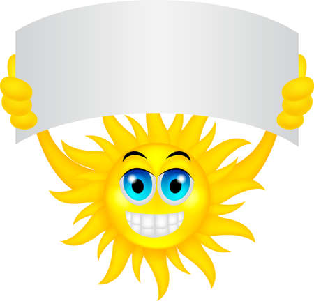 summer sign: Sun with sign