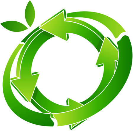 logo recyclage: logo recyclage Illustration