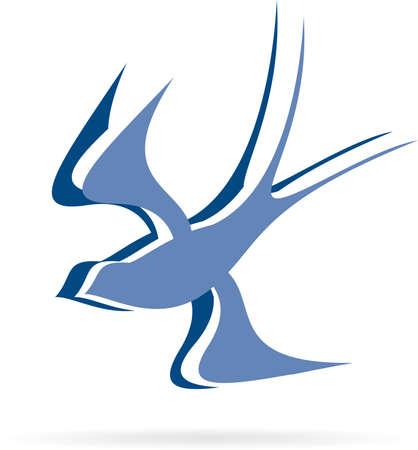wings logos: logo flying bird