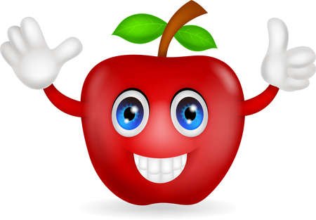 red apple cartoon Vector