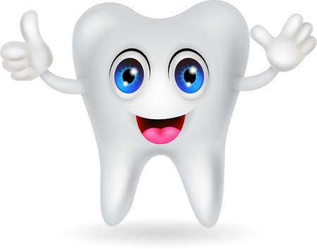happy tooth cartoon Stock Vector - 20386553