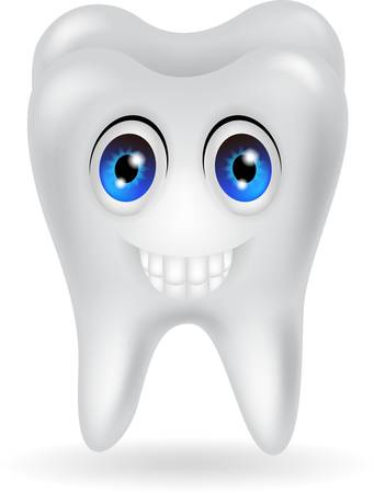 tooth cartoon: happy tooth cartoon