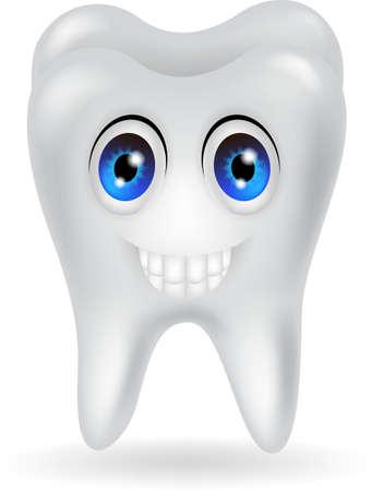 diente caricatura: historieta feliz del diente