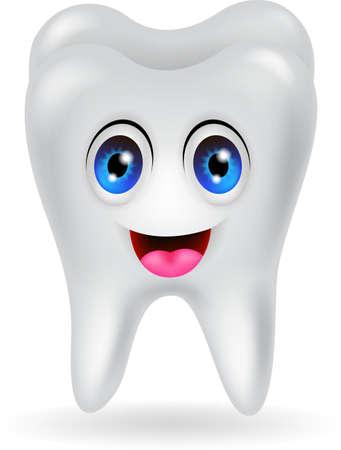 happy tooth cartoon Vector