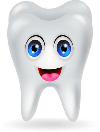 happy tooth cartoon Stock Vector - 20386557
