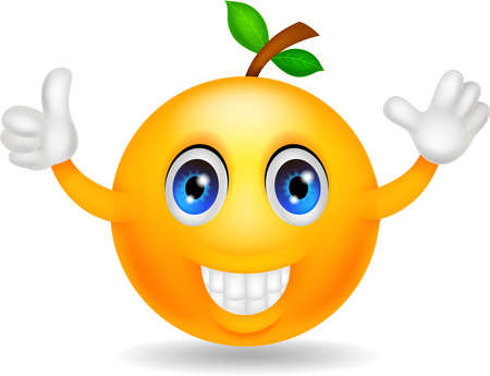 citrus tree: Orange cartoon character