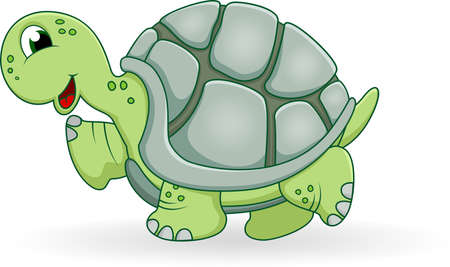 tortuga: tortuga de dibujos animados