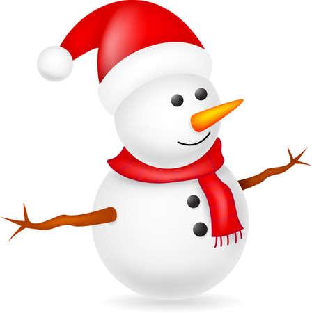 Bonhomme de neige heureux Vecteurs