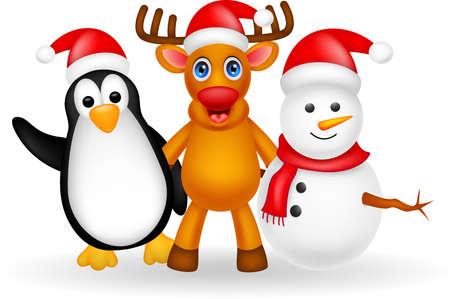 deer cartoon friendship Stock Vector - 20690568