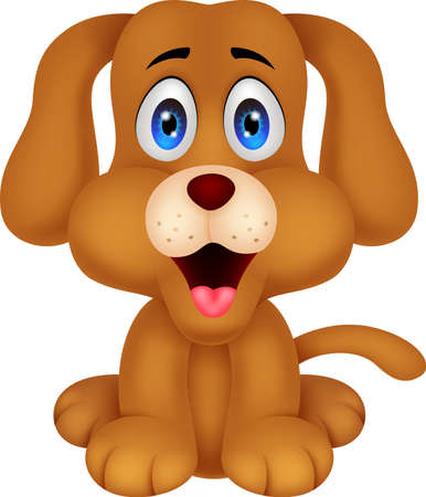 puppies: Cute dog cartoon