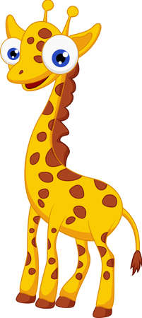 Cute giraffe cartoon Stock Vector - 21193853