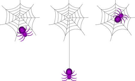 spider web icon: spider cartoon and webs Illustration