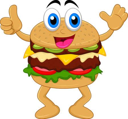 burger cartoon characters Stok Fotoğraf - 21731784