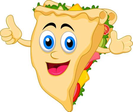 sandwich cartoon character Иллюстрация