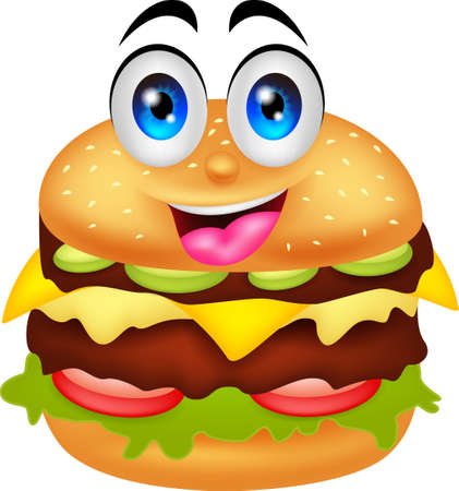 burger cartoon characters Çizim