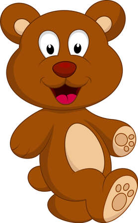 bear cartoon character Stok Fotoğraf - 22079991