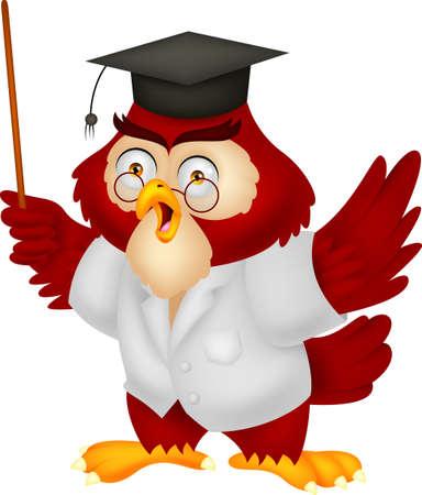 Owl teacher cartoon